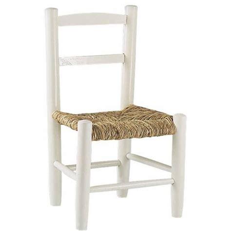 chaise cuisine bois paille chaise enfant paille bois laqué blanc la vannerie d