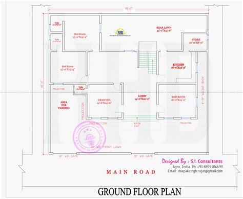 modern style india house plan kerala home design