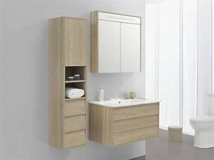Colonne Salle De Bain Bois : le meuble colonne de salle de bain ~ Teatrodelosmanantiales.com Idées de Décoration