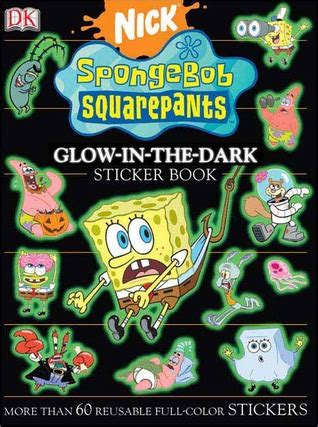 spongebob squarepants glow   dark sticker book  david lewman