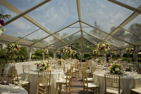 elegant clear top tent wedding blue peak tents