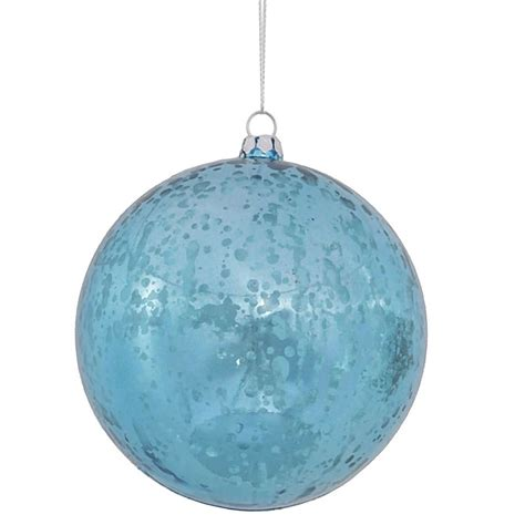vickerman 342497 4 quot turquoise shiny mercury ball