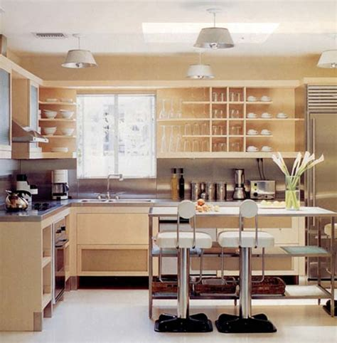 open kitchen cabinets retro modern kitchen decorating ideas open kitchen