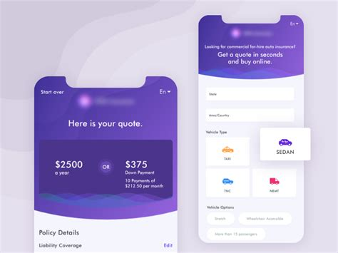 That includes pay bills, get. App design for a booking a car insurance online by Gaurav Sharma for Quovantis on Dribbble
