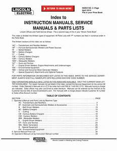 Index To Instruction Manuals  Service
