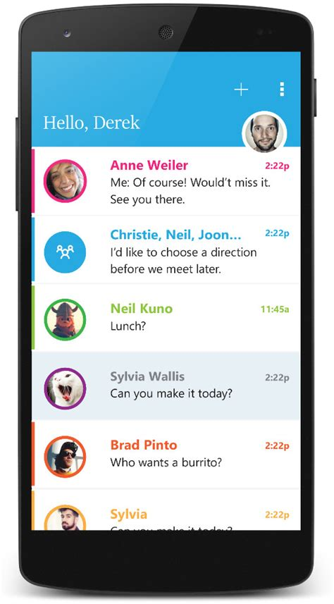 microsoft brings send email messaging app to android still working on windows phone version