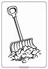 Shovel Coloringoo sketch template