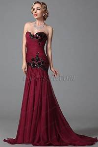 robe de soiree longue bustier bordeaux broderie a sequin With robe de soiree bordeau