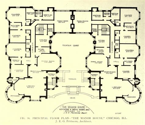 blue prints of houses floor plan of the manor house chicago floor plans