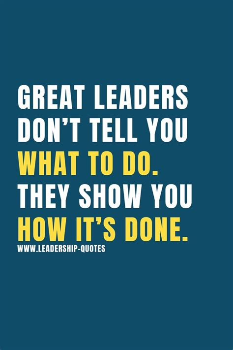 great leaders dont       show