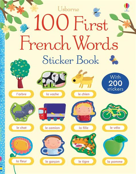 stickers phrase cuisine 100 words sticker book at usborne books at home