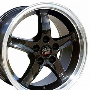 FR04B Wheels for Ford Mustang Cobra R Black Rims Staggered