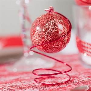 Boule Noel Transparente : boule transparente paillet e rouge pm rouge ~ Melissatoandfro.com Idées de Décoration