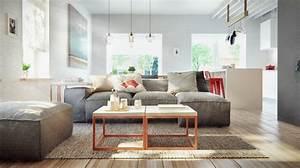 Salon Design Scandinave : d coration d 39 un appartement au style scandinave et industriel ~ Preciouscoupons.com Idées de Décoration