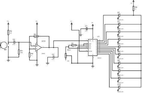 Led Meter Circuit Diagram Using