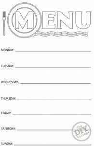 free printable weekly menu planner weekly menu planners With free printable menu templates for kids