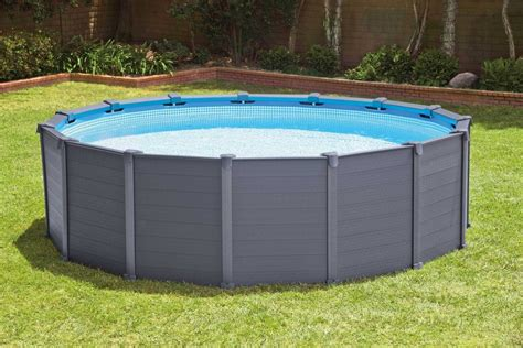 poolset mit sandfilteranlage intex pool set mit sandfilteranlage 216 478 cm 187 graphite panel pool komplett set 171 kaufen