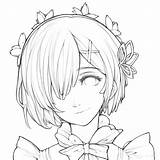 Anime Coloring Rem Zero Coloringonly sketch template