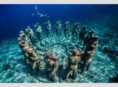 Dive in and explore this incredible underwater sculpture