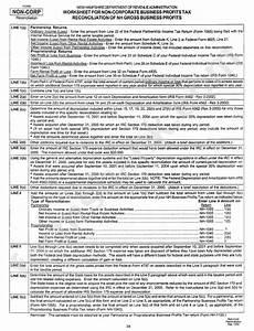 Instructions For Worksheet For Non