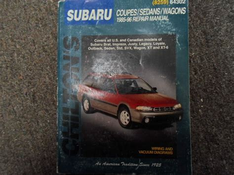 online service manuals 1987 subaru brat free book repair manuals 1985 1996 chilton subaru xt svx outback legacy justy service repair manual x ebay