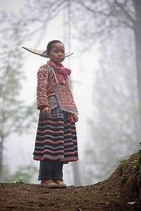 China   Changjiao Miao woman wearing traditional costume ...