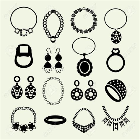 jewelry icons  psd vector eps format