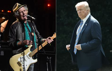 keith richards trump donald knife rid stabbed table