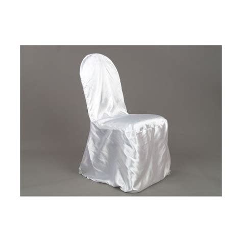 satin banquet chair cover white depot