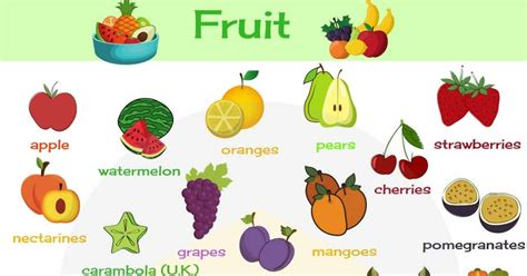 Fruit Vocabulary In English  Learn Names Of Fruits  7 E S L