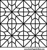 Coloring Geometric Mosaic Shapes Adult Patterns sketch template
