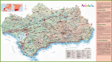 stadtplan von andalusien detaillierte gedruckte karten