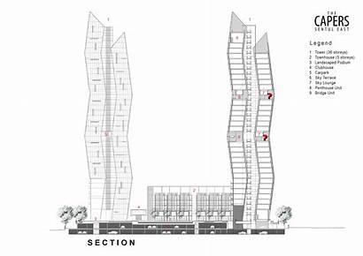 Capers Section Rt Architects Skyscraper Plan Tower