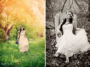 Boho chic bride poses for wedding photographer in rustic for Wedding photography settings