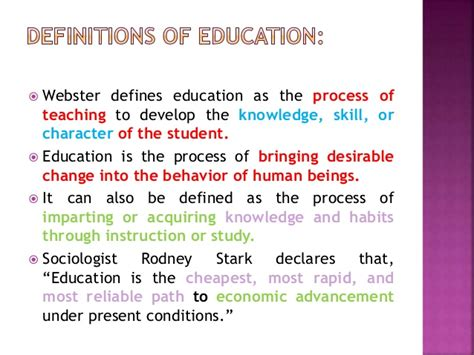 education meaning definition types  education