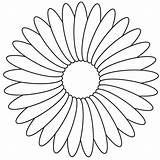 Coloring Daisy Flower Printable Paper Getcolorings sketch template