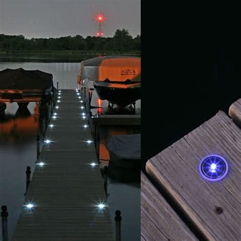 lake lite solar dock dots with white led s recessed