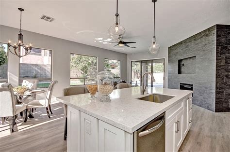 New Gainey Ranch Kitchen Remodel In Scottsdale Az Bathroom For Kids Light Uk Makeovers Perth Lighting Fixtures Gray Tile Flooring Contemporary Blue And Ideas Ceiling Fan
