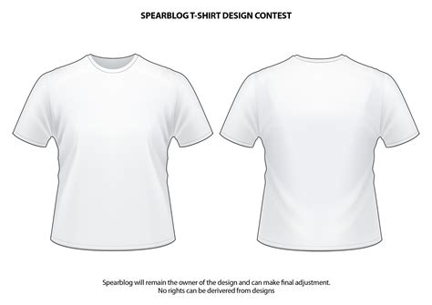 White T Shirt Template Spearblog T Shirt And Logo Design Competition Spearblog