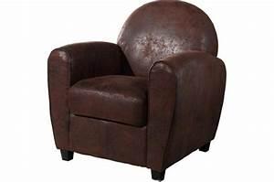 fauteuil club marron vieilli patricia design sur sofactory With tapis moderne avec canapé club cuir vieilli marron