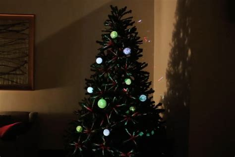 ambos created a projection mapped christmas tree digital