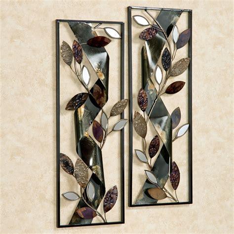 Wall Decor Set Of 2 - autumn whisper metal wall panel set