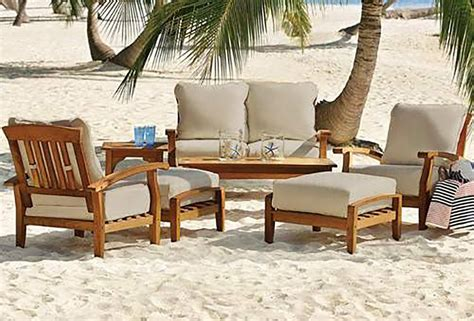Seating Patio Furniture by 7 Teak Wood Outdoor Patio Seating Set