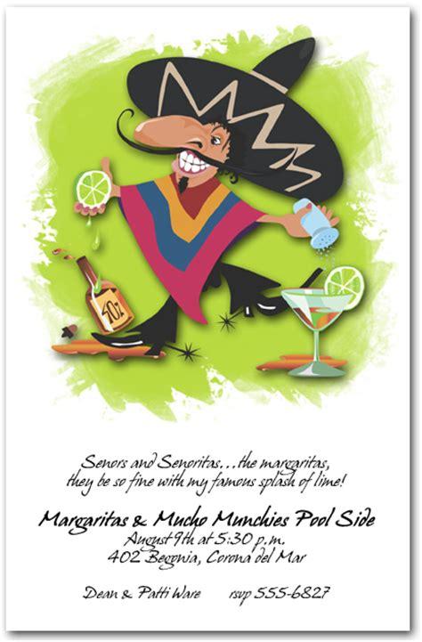 senor margarita party invitations cinco de mayo invitations