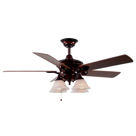 lowes ceiling fans with lights shop harbor breeze bellhaven 52 in rustic bronze downrod