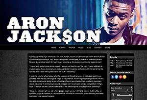 websites for musicians and bands create a music website With rap artist bio template
