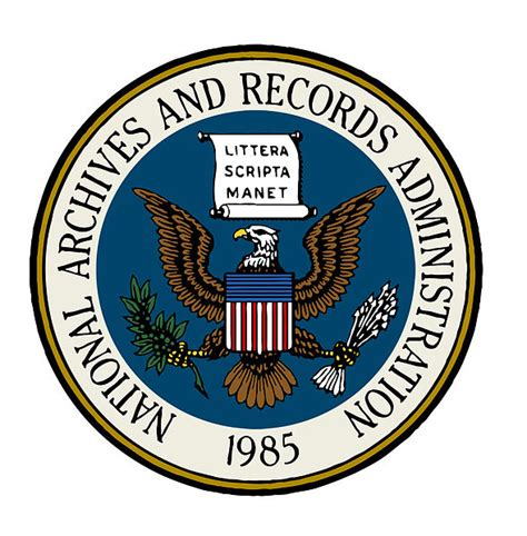 seal blue color file seal of the national archives and records