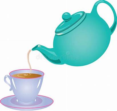 Pouring Tea Clipart Pot Gietende Thee Theepot