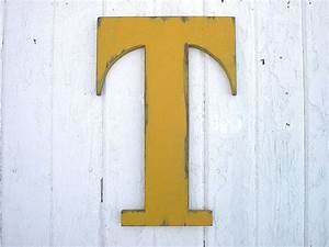 shabby chic rustic wooden letters t 18 dorm large by With large wooden letter t
