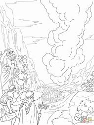 Cloud And Pillar Of Fire Coloring Page